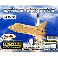 Puzzled 1230 3D Puzzles - Transbordador espacial, talla única, color canela (paquete de 38)