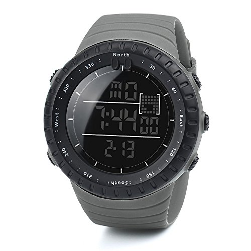 Zaidern LED Watches Men,Men's Watch Luxury Sport Analog Quartz Digital Watches Classical Military Army Sports Waterproof Rubber Band Round Dial Wrist Watches Black On Sale ()