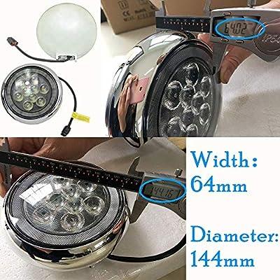Mini Led Rally DRL Light NSLUMO 18W High Power DC12V Canbus LED DRL Daytime Running Light Halo Fog Lamp Kit For Mini Cooper all series R55 R56 R58 R60 Rally Drving Lamp Chrome