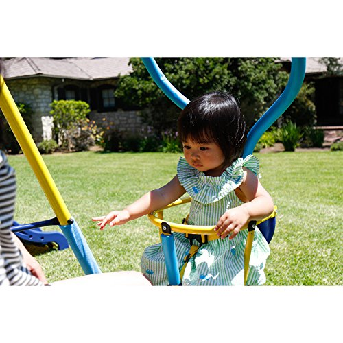 Toddler And Kids Metal Swing Set With Slide Swingsets For Children