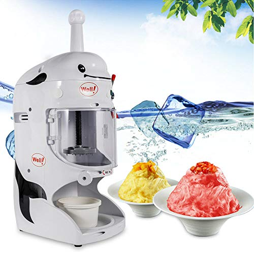Electric Ice Crusher, 110V Automatic Ice Shaver Snow Cone Maker Shaved Ice Machine for Home and Commercial Use - US Shipping