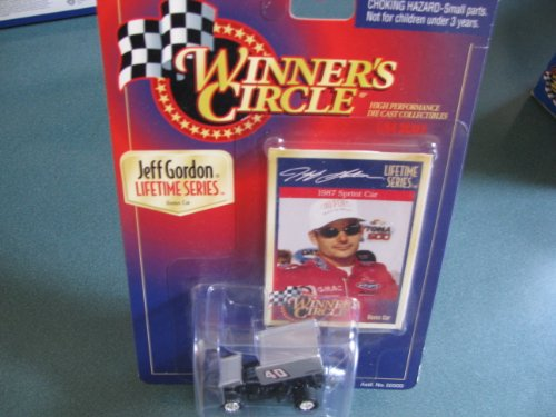 (1987 Jeff Gordon #40 Challenger World of Outlaws Sprint Car 1/64 Scale Winners Circle Lifetime Series Issue Bonus Car)