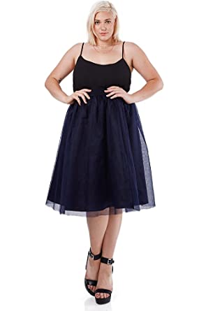 Poshsquare Womens Tulle Tutu Prom Party A Line Plus Size Skirt At