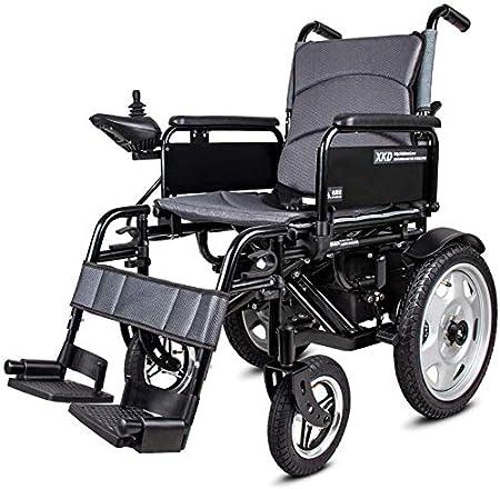 Yuzhonghua Disable Viejos Silla de Ruedas Plegable portátil de sillas de Ruedas eléctricas y baterías de polímero de Litio 20A