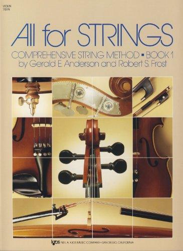 All For Strings Book 1 Violin. Partitions pour Ensemble d'École, Ensemble De Cordes, Violon