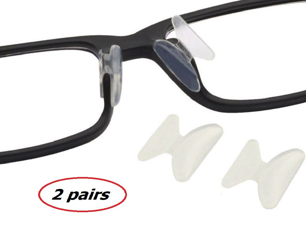 Amazon.com: 10 Pair Clear - 2.5mm x 17mm Non-Slip Nose Pads for ...