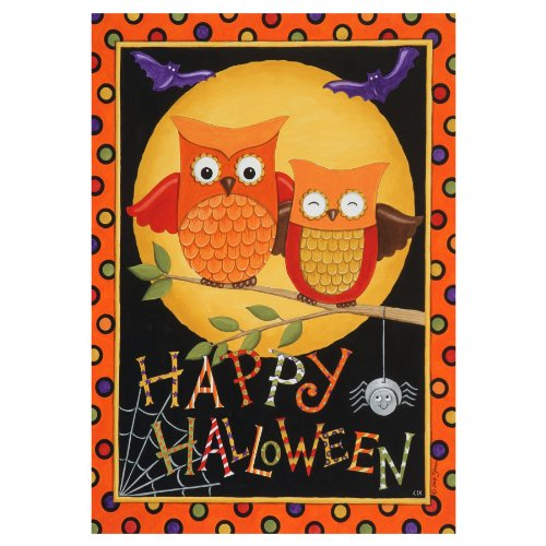 Happy Halloween Owls Garden Decorative