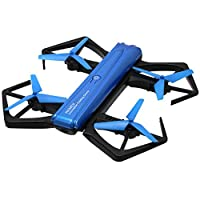HD Foldable Quadcopter Drone with 720P Camera for Kids Streaming Stunt Pocket Racing GPS Image Video WiFi FPV Helicopter Blue Drone with Lights,Altitude Hold,Headless Mode and One Key Return Home from EPFamily