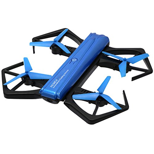 HD Foldable Quadcopter Drone with 720P Camera for Kids Streaming Stunt Pocket Racing GPS Image Video WiFi FPV Helicopter Blue Drone with Lights,Altitude Hold,Headless Mode and One Key Return Home