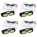 Excelvan® 4X DLP-Link 3D Aktiv Shutter Brillen für Optoma ViewSonic Acer BenQ DELL Beamer