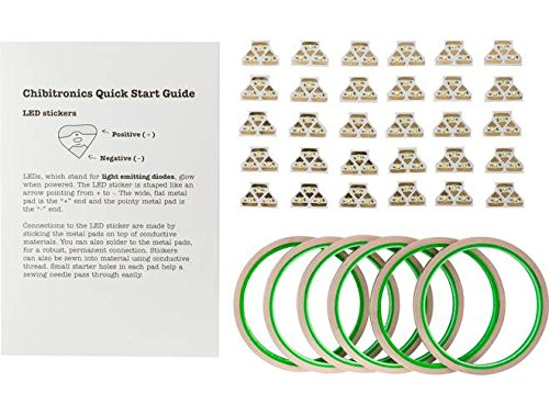 Chibitronics Classroom Pack of 90 White LED Stickers