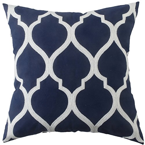 Kevin Textile Cushion Cover Waves Cotton Canvas Hand Made Ho