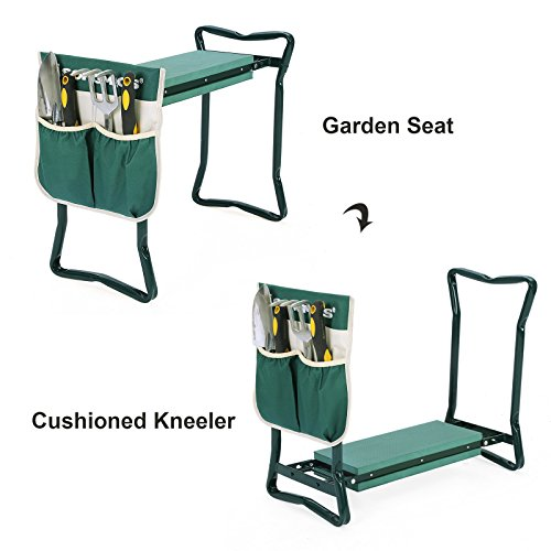Songmics Garden Kneeler Seat With Eva Kneeling Pad And Tool Pouch Uggk49l 11street Malaysia