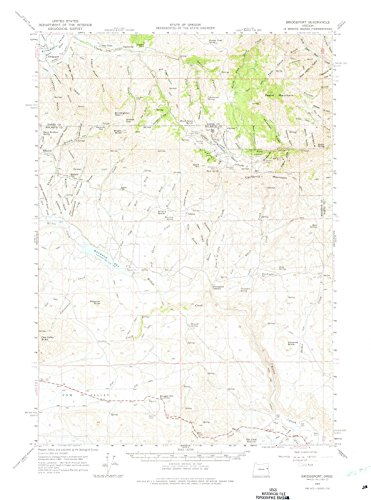 Oregon Maps - 1964 Bridgeport, OR USGS Historical Topographic Map - Cartography Wall Art - 44in x ()