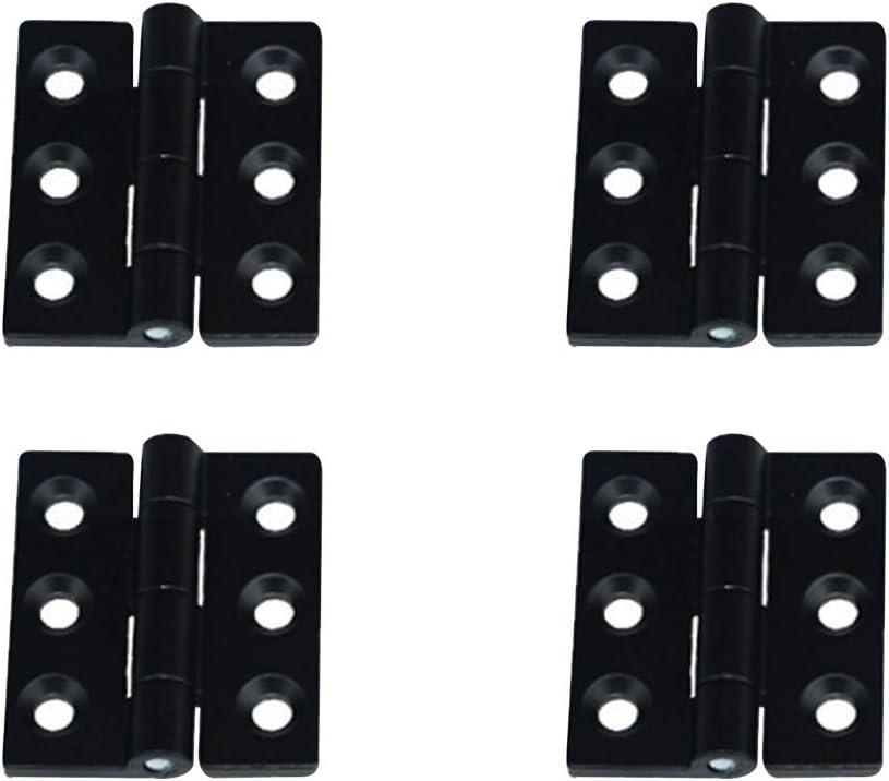 YOFASEN Bisagras Plegables - 4PCS Bisagras de Puerta de Hardware para Puerta de Armario Doméstico, Aleación de Zinc, Negro, 60 * 60 * 6mm