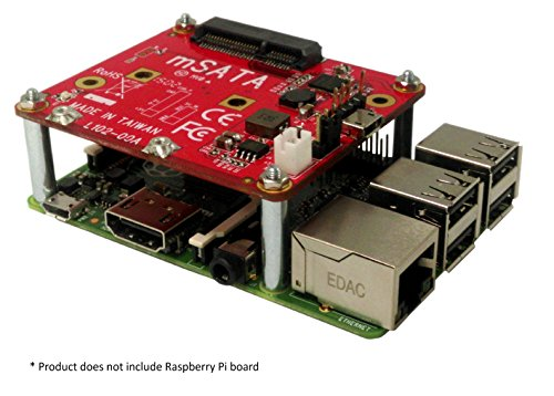 Ableconn PIUSB2MSA USB to mSATA Converter Stackable Expansion Board Raspberry Pi by Ableconn