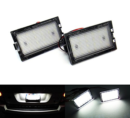 2x LED Licence Number Plate Light White Canbus For Discovery 3 4 Freelander 2 RR Sport L320 RZG