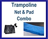 Net And Pad Combo For 15Ft Frames With 6 Pole Top Ring Enclosure
