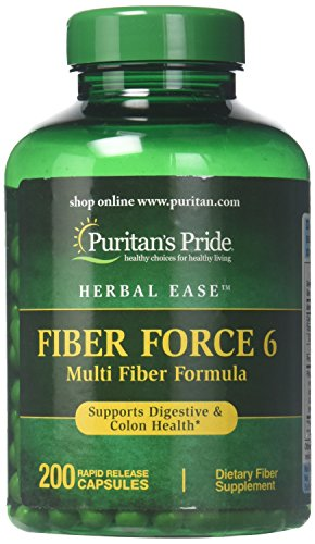 Puritans Pride Fiber Force 6, 200 Count