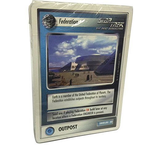 Star Trek CCG - 61 Card Federation Promo Starter Deck from Customizable Card Game by Decipher (Star Trek The Next Generation Trading Cards)