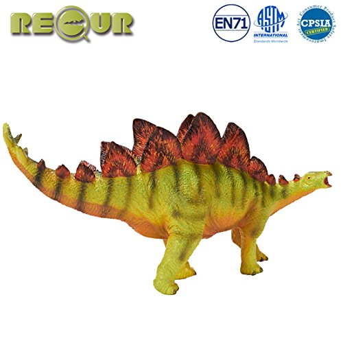 "Stegosaurus Dinosaur Miniature - Recur 11"" Stegosaurus Jurassic Toys,Soft Hand-Painted Dinosaur Toy Figurine Model- Realistic 1:35 Jurassic Dinosaur Action Figures with Teeth,Ideal for Collectors, Ages 3 And Up"
