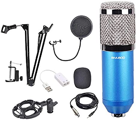 YEE Kit Micrófono Condensador con Tarjeta de Sonido Soporte ...