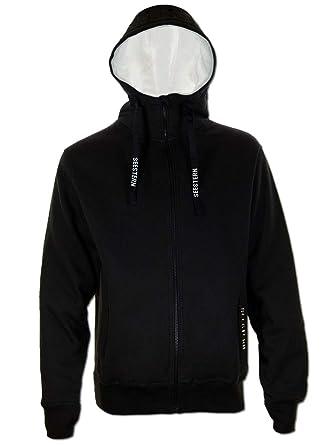 81ebe50b08626e SEESTERN Herren Kapuzen Sweat Shirt Jacke Pullover Zip Hoody Sweater Gr.S- XXL Schwarz