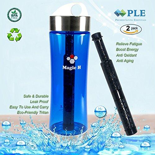 Portable Healthy Water Bottle Mineral Filter Water Bottle Purifier Provide Hydrogen Alkaline Water Anti Aging, Leak Proof, BPA Free, Eco-Friendly Tritan Plastic ,No Electricity Leak Proof Water Bottle (Portable Magic)