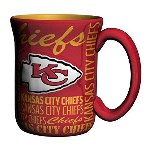 NFL Kansas City Chiefs Sculpted Spirit Mug, 17-ounce