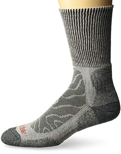 Bridgedale Men's Lightweight Boot Height - Merino Comfort Socks, Grey, Large ()