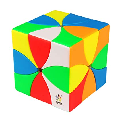 Alician 6 Fluorescence Colors Magnetic 8 Leaves Magic Cube Toy for Kids