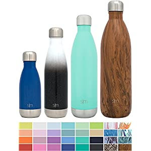 Simple Modern 9oz Wave Kids Bottle - Vacuum Insulated Double Wall 18/8 Stainless Steel Hydro Water S'well Flask - Pacific
