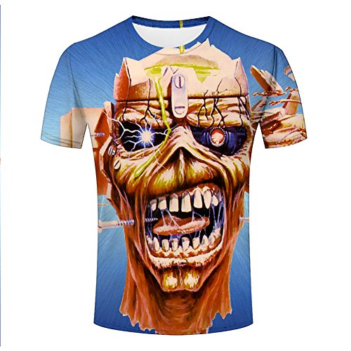 Mens 3D Printed Shirts Bassnectar Divergent Spectrum Madness Iron Maiden Tupac Shakur (XL, 145)