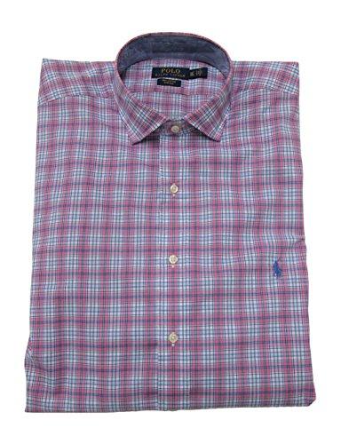 Ralph Lauren Plaid Fabric - Polo Ralph Lauren Mens Big & Tall Stretch Plaid Button-Down Shirt Pink 4XLT