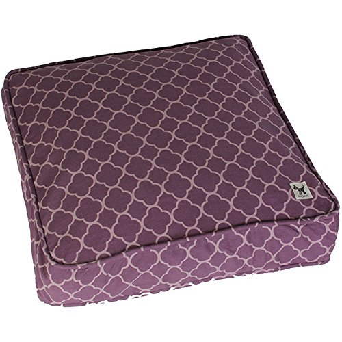 (Molly Mutt Royals Petite Square Dog Bed Duvet, Small, Purple - 100% Cotton, Durable, Washable)
