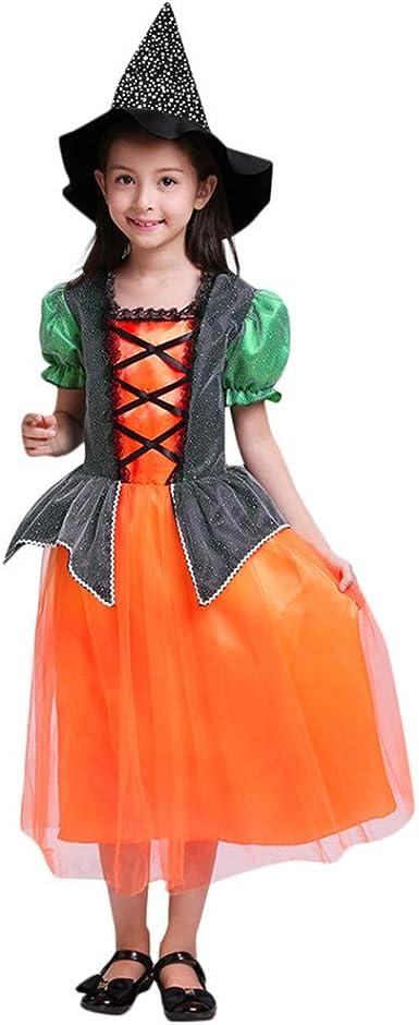 Fossen Halloween Disfraz de Calabaza para Niñas Vestido + Gorra ...