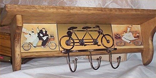 Wood Wall Shelf Chef Bike Hooks Bistro Waiter Decor Fat Chefs Decoration - Fat Hook