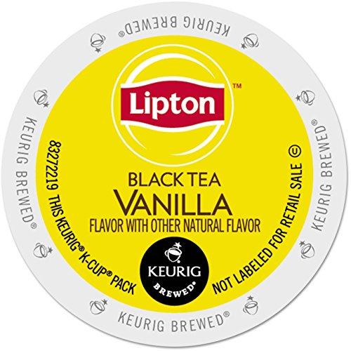 Lipton Vanilla Black Tea K-Cup for Keurig Brewers, 96 Count