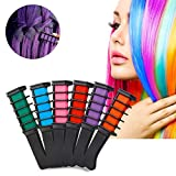 Hair Chalk Comb Set, FOXTSPORT 6 Colors Temporary Hair Color Cream Dye Hair DIY 6Pcs
