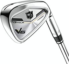 There is no feeling that compares to playing a world-class, forged FG Tour iron. Introducing the brand new V6 irons from Wilson Staff. Combining ultimate playability with game-changing Tungsten sole technology to control those miss hits and m...