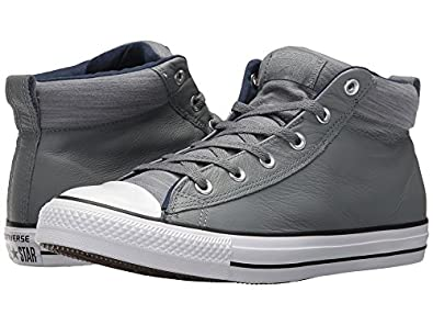 14f7eb2374e748 Converse Chuck Taylorr All Starr High Street Leather w Fleece Mid ...