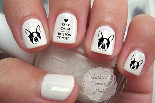 Boston Terrier Nail Art Decals