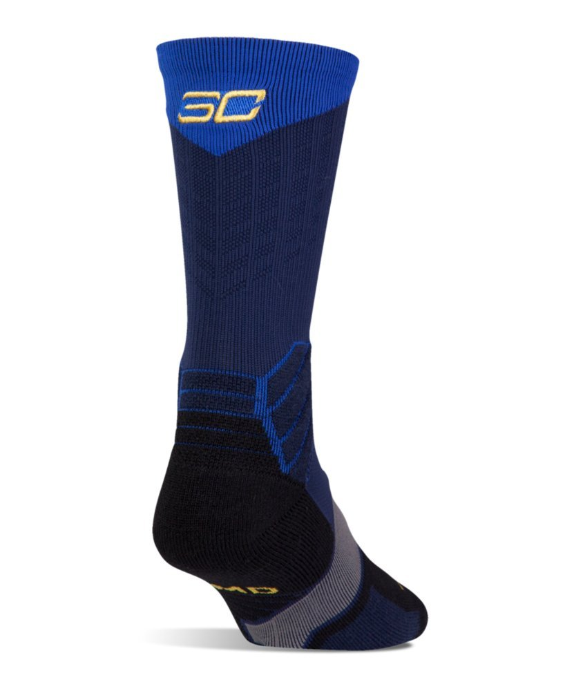 Under Armour - Calcetines de baloncesto - U3744P1-400, Large, Midnight Navy/royal/taxi Yellow: Amazon.es: Deportes y aire libre