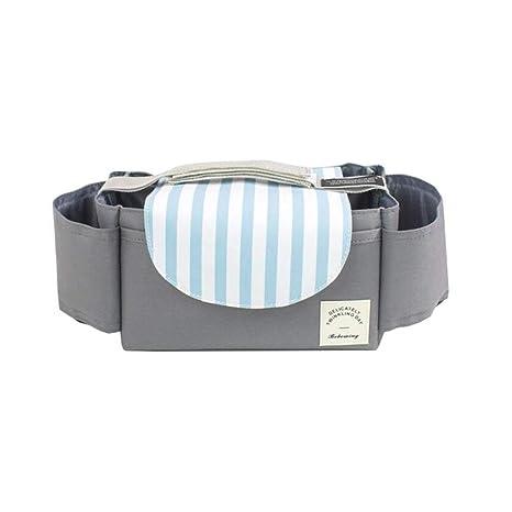 Cochecito de bebé Organizador bolsa de pañales con soporte para teléfono móvil - ajuste universal y