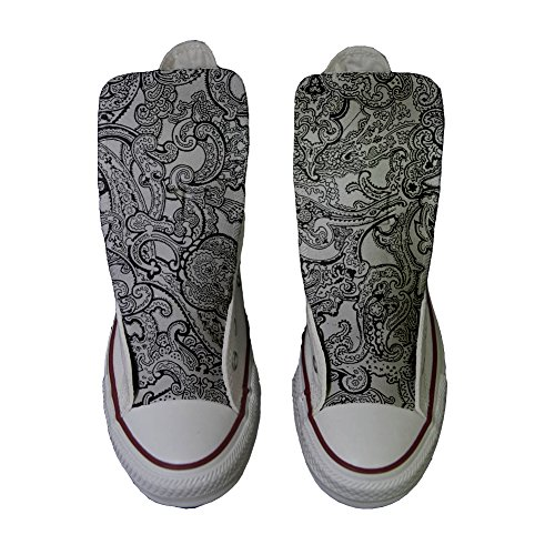 Converse All Star zapatos personalizados (Producto Handmade) Black & White Paisley