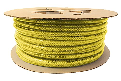 Coilhose Pneumatics PFE4500TY Flexeel Hose, 1/4'' x 500', Without Fittings, Transparent Yellow