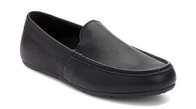 f07948abac8 Vionic Men s Borough Tompkin Slippers Black Leather 7 ...
