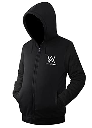 c7f562fb630 Nedal Black Zipper Jacket Drawsting Hood for Adult Unisex Alan Walker  Sweater