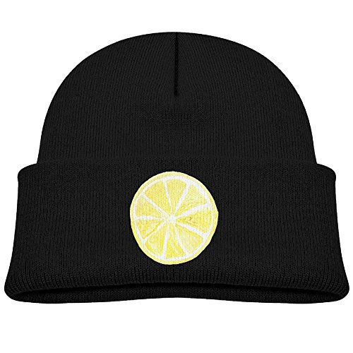Fruit Lemon Icon Logo Food Kid Cuff toboggan Kniting Beanies Hats Wood Caps For Boys Girls Unusual Unisex Children Winter - Logo Leopard