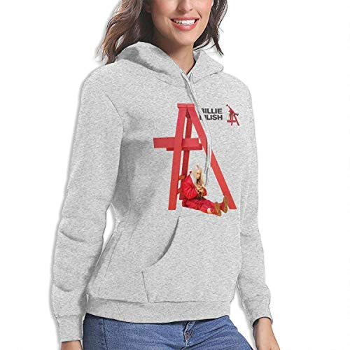 BE-AUTIFUL Billie Eilish Womens Cool Hoodie Sport Pullover Gray L